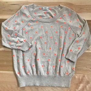 Madewell Wallace Tan Polka Dot Sweater Size XS